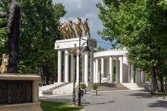 Мемориал павших героев в городе скопья, Республики Македония Стоковые Фото