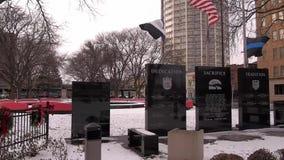 Мемориал полиции Сиракузы сток-видео