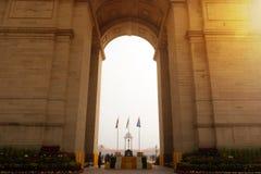 Мемориал строба Индии в новом Dalhi с президентом стоковые фото