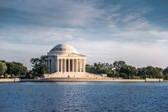 Мемориал Jefferson в вечере, DC Вашингтона Стоковое Изображение RF