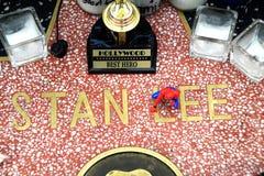 Мемориал Stan Ли на звезде стоковая фотография rf