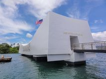 Мемориал USS Аризоны на Перл-Харборе стоковое фото
