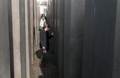 Мемориал Берлина для убитых евреев Европы Стоковое Изображение