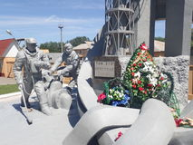 Мемориал к непредвиденным работникам, Чернобыль Стоковое фото RF
