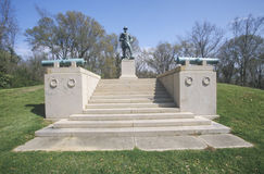 Мемориал к подполковнику Вильяму Фримену Vilas 1863 на парке Vicksburg национальном воинском, MS США стоковое изображение rf