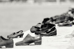 Мемориал к холокосту в Дунае, Будапеште стоковые фото