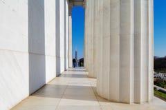 Мемориал Линкольна в DC Вашингтона, США. Это американский национальный монумент построенный для того чтобы удостоить Авраама Линко Стоковые Изображения