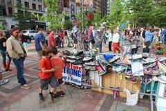 Мемориал нападения марафона Бостона стоковые изображения rf