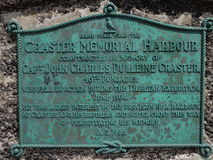 Мемориал на гавани Нортумберленде Craster Стоковая Фотография