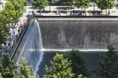 9 11 мемориал, Нью-Йорк, редакционный Стоковые Изображения