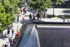 9 11 мемориал, Нью-Йорк, редакционный Стоковые Изображения RF