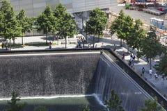 9 11 мемориал, Нью-Йорк, редакционный Стоковое Изображение