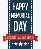 мемориал дня счастливый Удостаивающ всех которые служили Стоковая Фотография