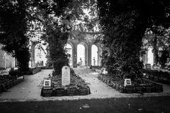 Мемориал облицовывает еврейское кладбище стоковая фотография
