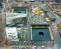 9/11 мемориалов на эпицентре всемирного торгового центра Стоковое Фото