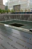 9/11 мемориалов, Нью-Йорк Стоковое Изображение RF