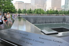 Мемориал 11-ое сентября, всемирный торговый центр Стоковое Изображение