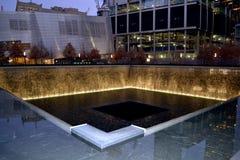 Мемориал 11-ое сентября фонтана Стоковая Фотография RF