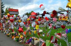 Мемориал стрельбы в школе Marysille Pilchuck Стоковая Фотография RF
