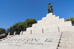 Мемориал с статуей Наполеон Бонапарт Стоковая Фотография RF