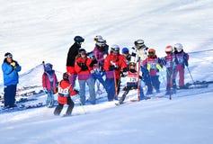 Мемориал Тины Sutton - конкуренция лыжи слалома Стоковые Изображения RF