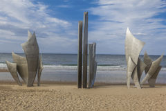 Мемориал Франция пляжа Омахи Стоковая Фотография RF