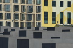 Мемориал холокоста (Берлин) - часть города Стоковые Фотографии RF