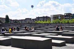 Мемориал холокоста в Берлине Германии Стоковое Фото