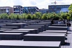Мемориал холокоста в Берлине Германии Стоковое Изображение