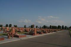 Мемориал школы Беслана, где теракт находился в 2004 Стоковая Фотография
