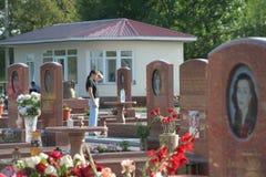 Мемориал школы Беслана, где теракт находился в 2004 Стоковое Изображение
