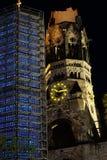 Мемориальная церковь, Breirscheidplatz, Берлин, Германия Стоковые Изображения RF