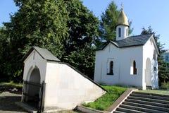 Мемориальная часовня на монастыре St Даниеля в Москве Стоковая Фотография RF