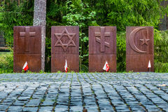Мемориальное Katyn (область России, Смоленска) стоковая фотография rf