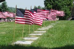 Мемориальные флаги Стоковые Изображения