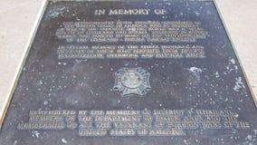 Мемориальный камень в памяти о пленниках войны которые потеряли их жизни во время конструкции Стоковая Фотография RF