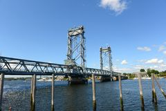 Мемориальный мост, Портсмут, Нью-Гэмпшир Стоковое Изображение