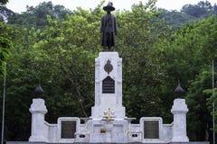 Мемориальный памятник короля Rama Я был написан в белой плите _ Стоковая Фотография RF