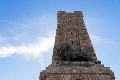 Мемориальный памятник на пике Shipka, Болгарии Стоковая Фотография RF