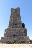 Мемориальный памятник на пике Shipka, Болгарии Стоковое Изображение RF