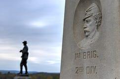 Мемориальный памятник, Gettysburg, PA Стоковые Фото