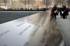 9/11 мемориальных Нью-Йорков Стоковое Фото