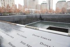 9/11 мемориальных обзоров Стоковая Фотография RF