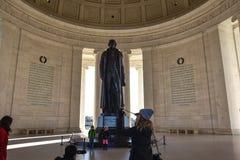 мемориал jefferson Вашингтон, США Стоковые Изображения RF