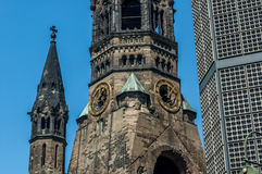 мемориал wilhelm kaiser церков Стоковая Фотография