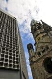 мемориал wilhelm kaiser церков berlin Стоковые Фотографии RF