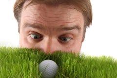 Менеджер и шар для игры в гольф стоковые фотографии rf