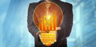 Менеджер предлагая блестящую идею для роста дохода стоковая фотография rf
