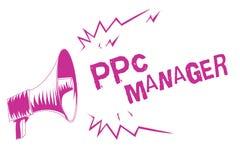 Менеджер Ppc текста сочинительства слова Концепция дела для которой рекламодателя оплачивают гонорар each time одно их объявлений бесплатная иллюстрация