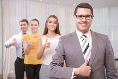 Менеджер высшего звена на встрече стоковая фотография